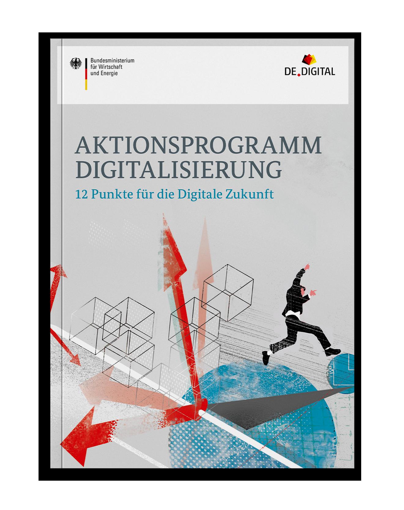 Grünbuch Coverdesign für das Bundesministerium für Wirtschaft und Energie zum Aktionsprogramm Digitalisierung von Deutschland