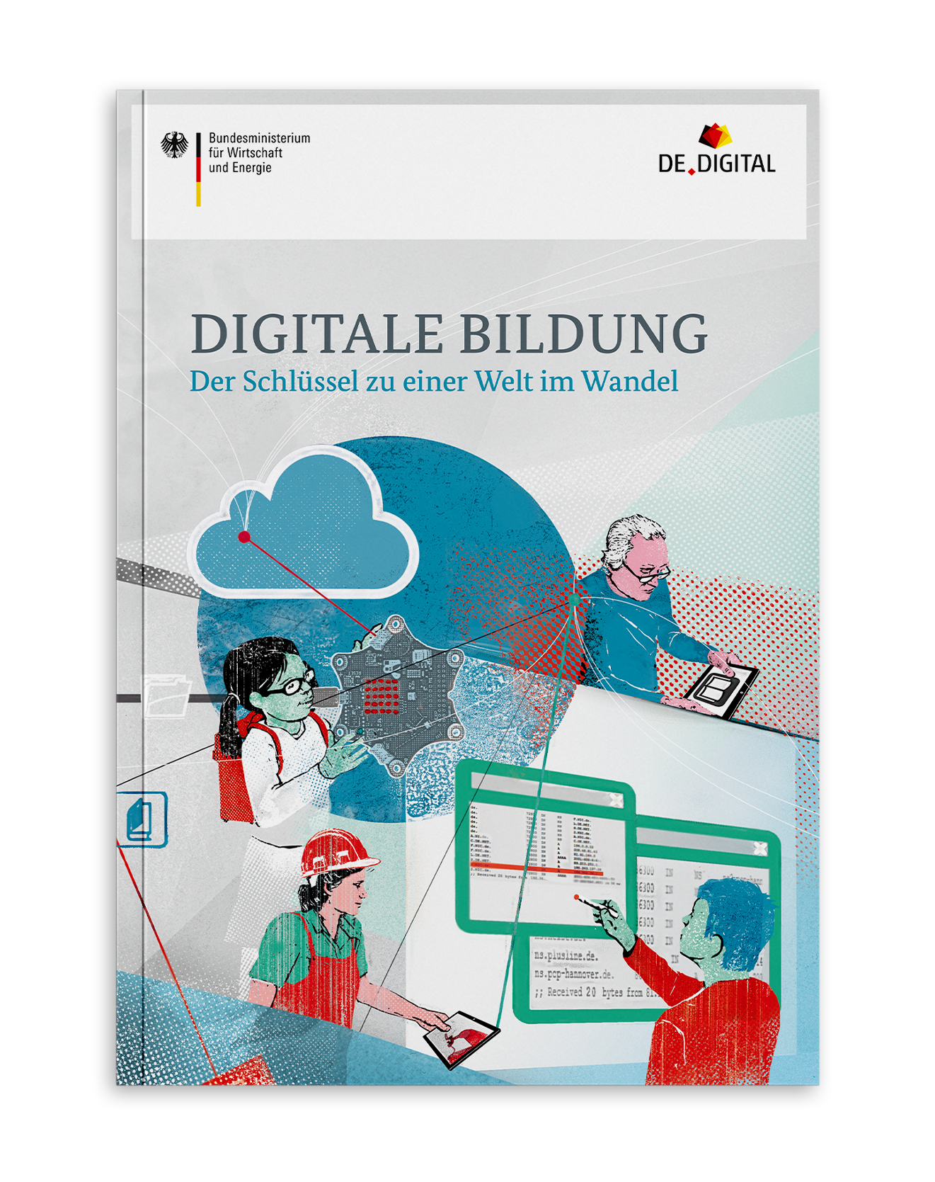 Coverdesign Digitale Bildung für das Bundesministerium für Wirtschaft und Energie