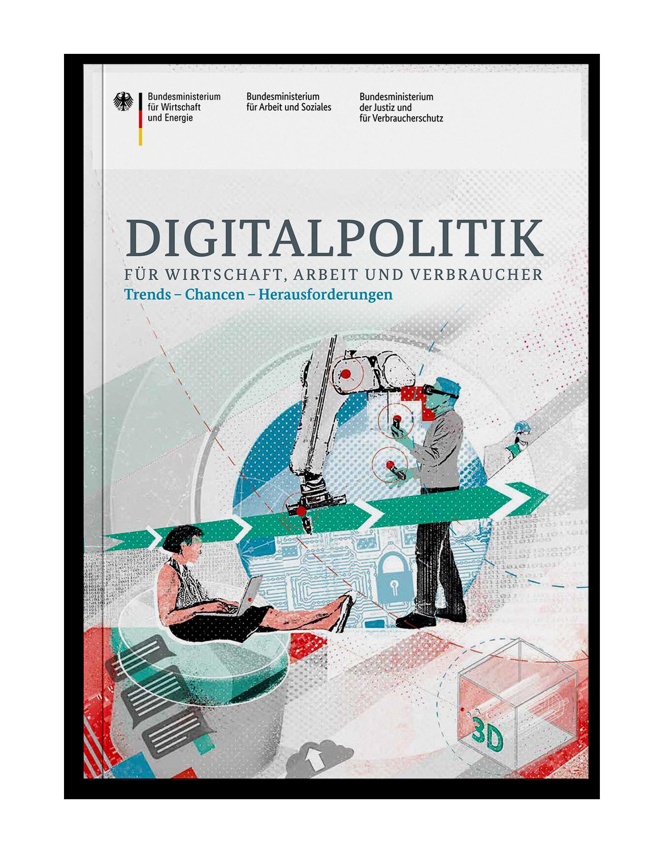 Coverdesign Digitalpolitik für das Bundesministerium für Wirtschaft und Energie