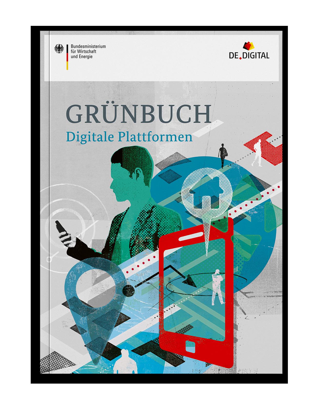 Grünbuch Coverdesign für das Bundesministerium für Wirtschaft und Energie zu digitalen Plattformen