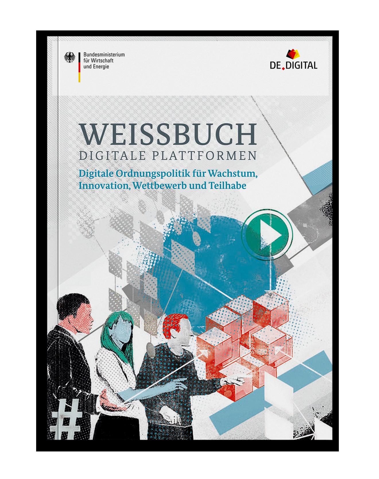 Coverdesign Weißbuch Digitale Plattformen für das Bundesministerium für Wirtschaft und Energie