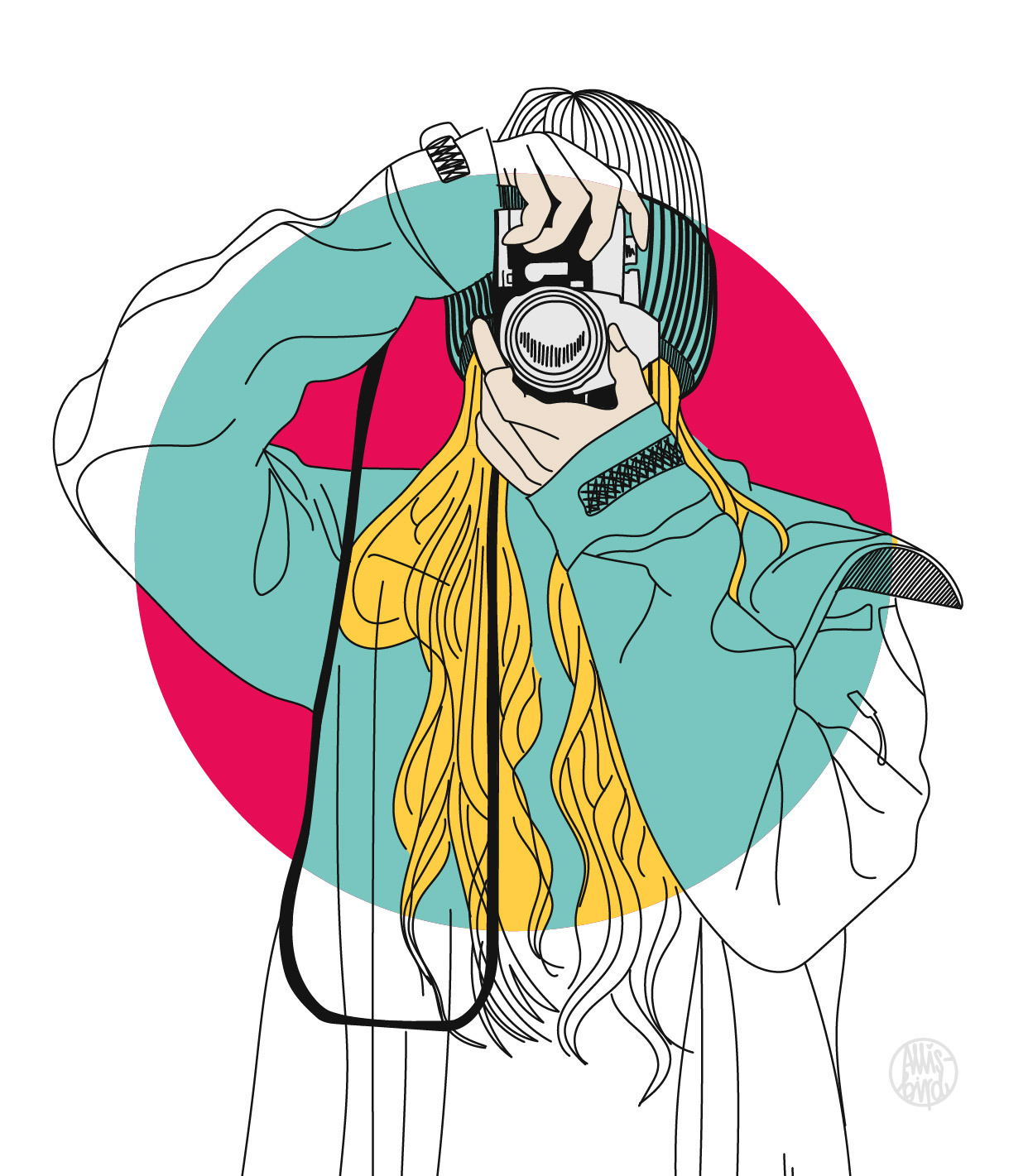 portrait-illustration-grafikdesign-frauke