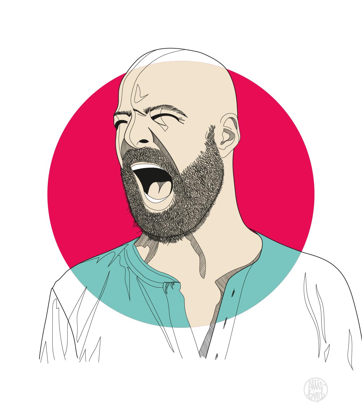 Portrait Illustration Grafikdesign Michael Kurt aka Curse