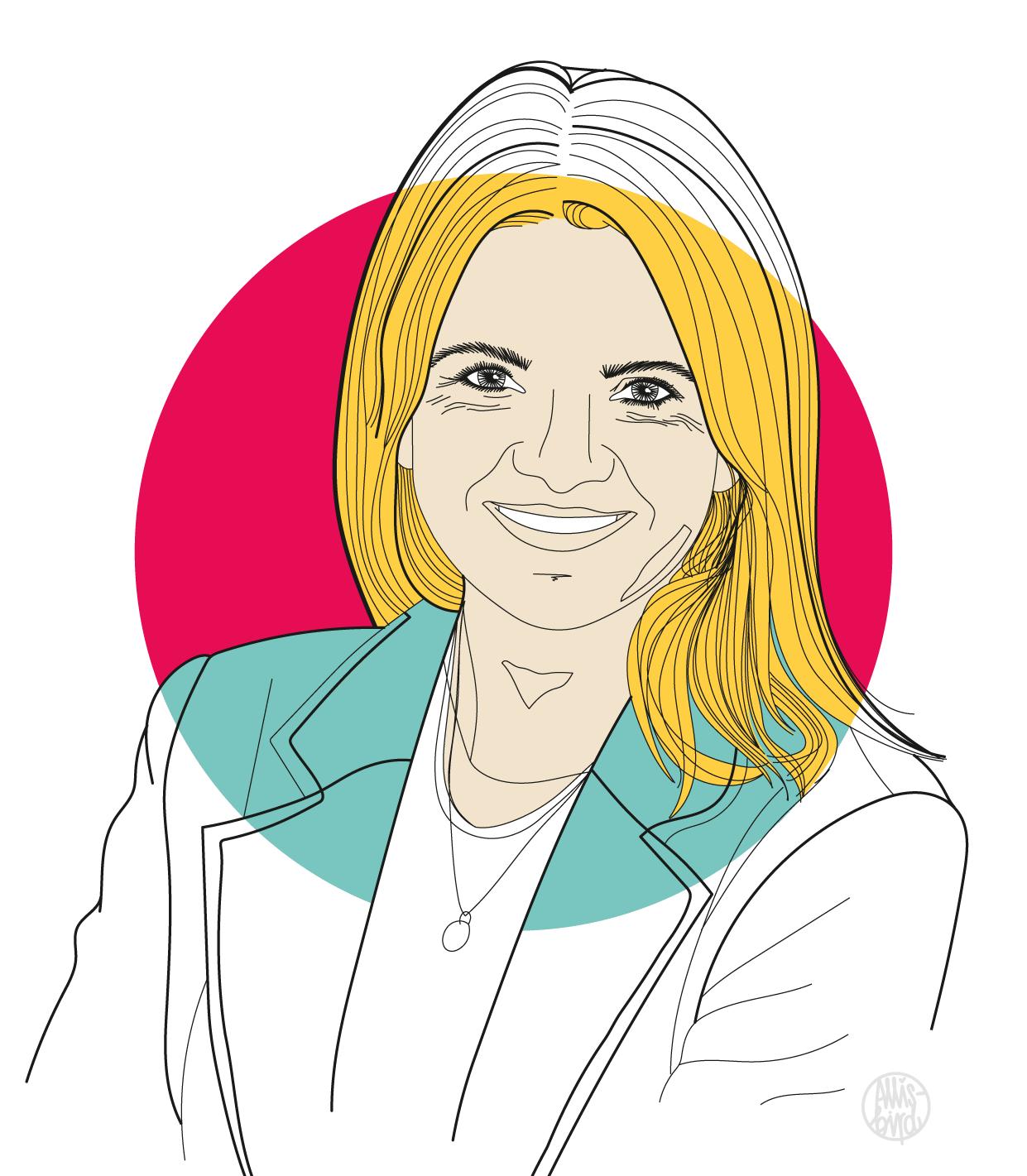 Portrait Illustration Grafikdesign Isabell Manz