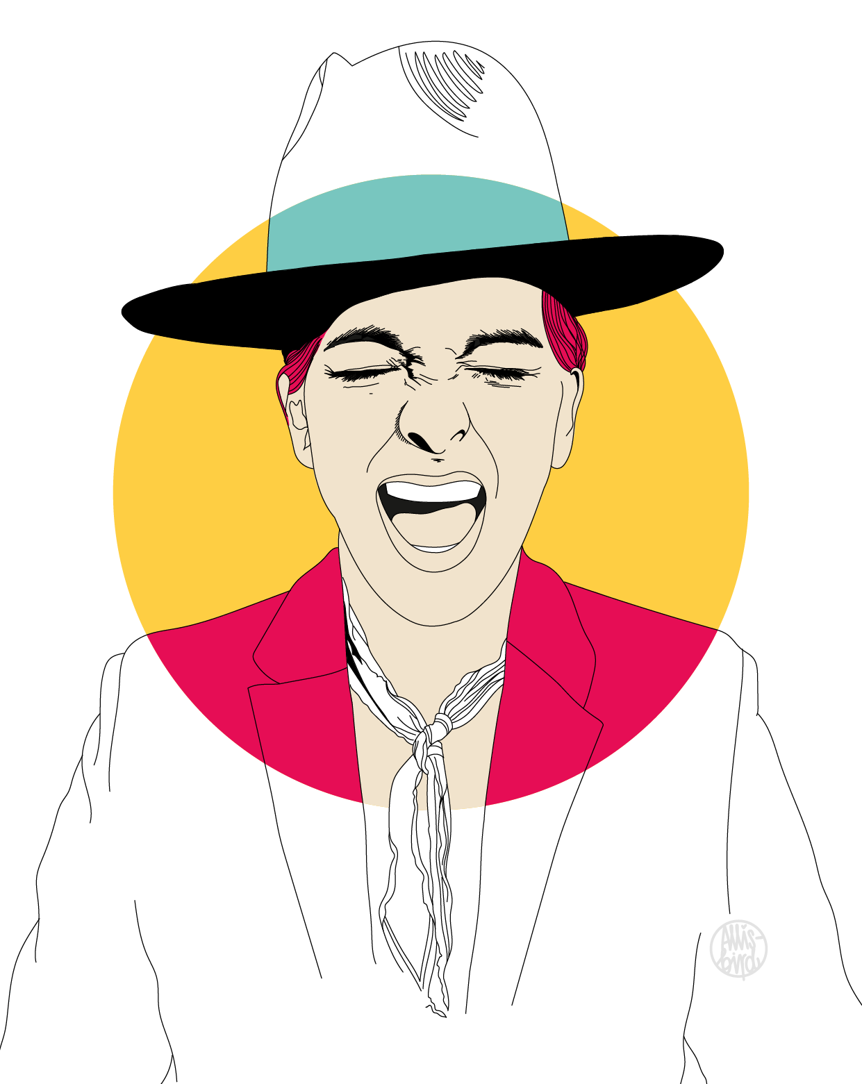 Portrait Illustration Grafikdesign Miki Agrawal