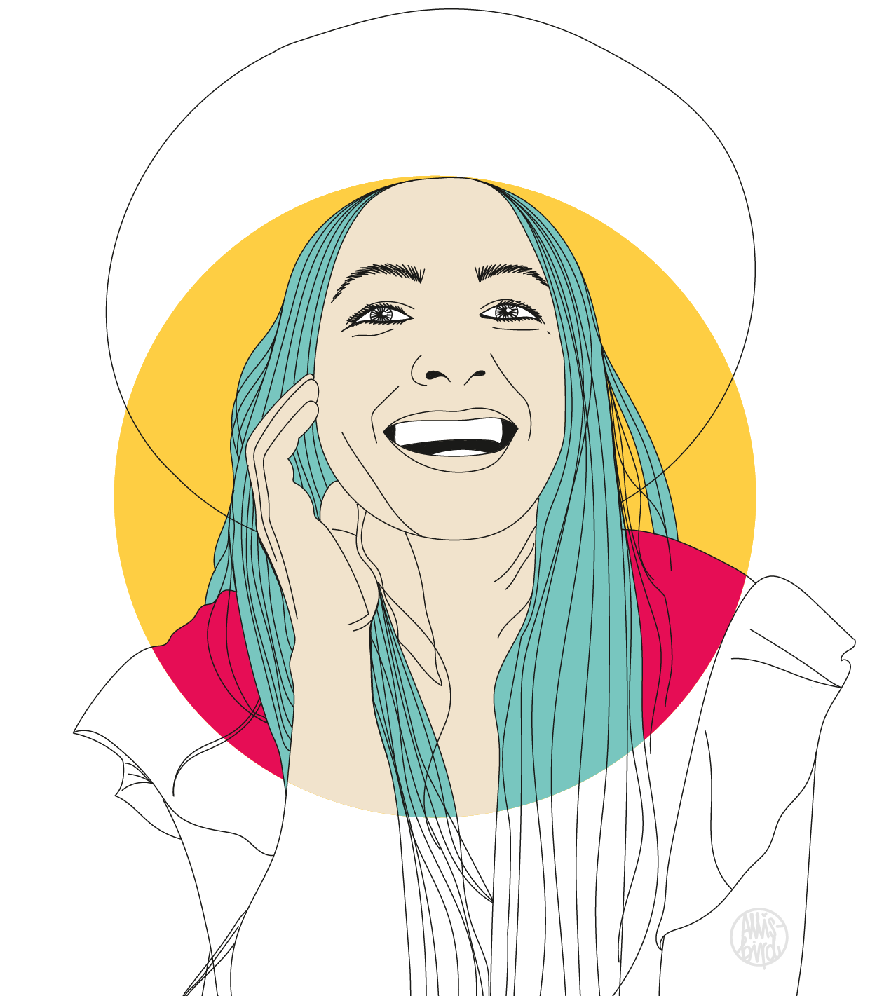 Portrait Illustration Grafikdesign Radha Agrawal