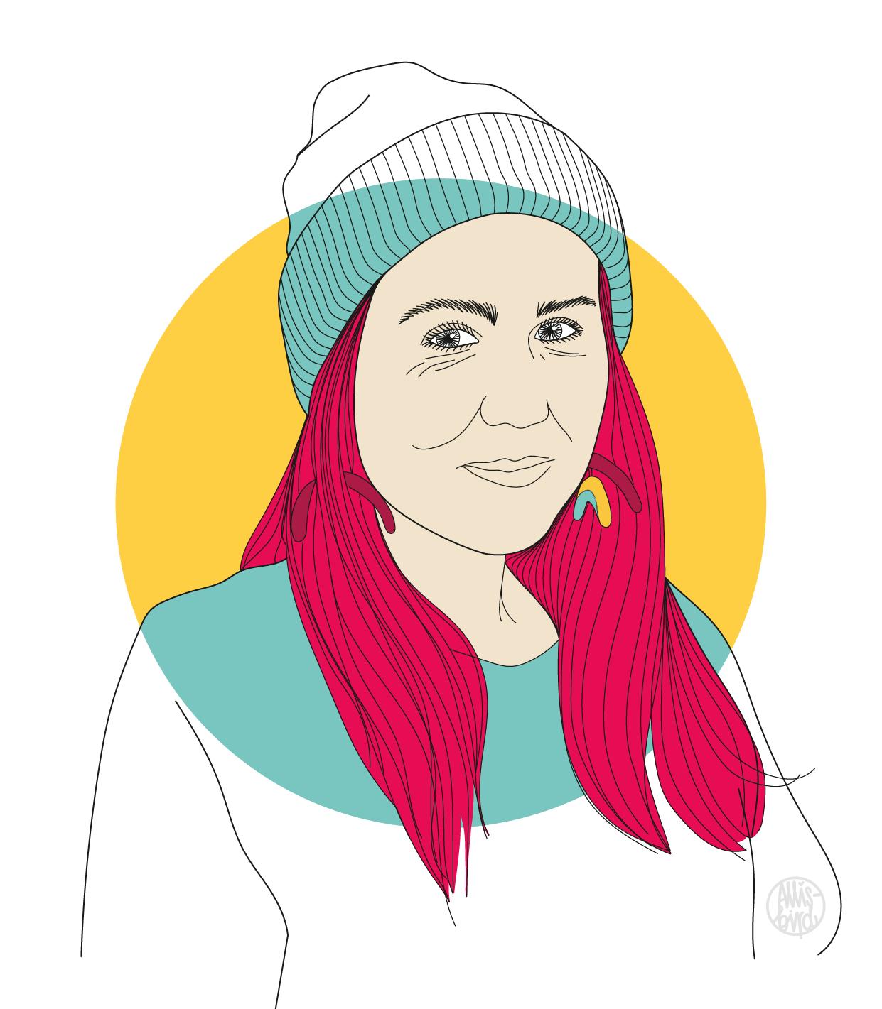Portrait Illustration Grafikdesign Sarah Gilgien