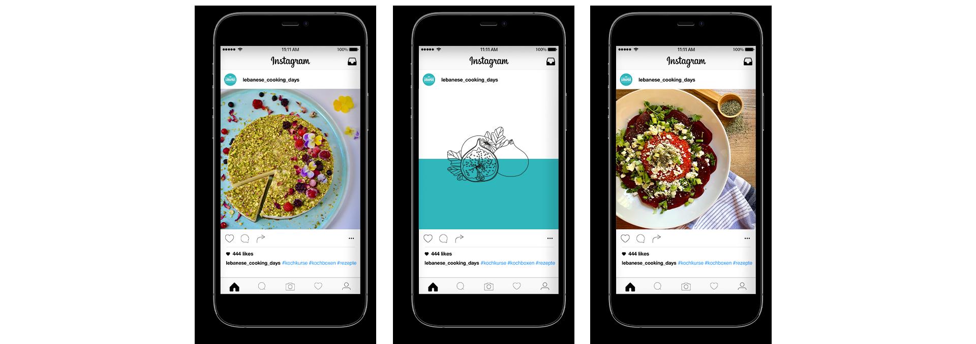 Social Media Feed Design Lebanese Cooking Days