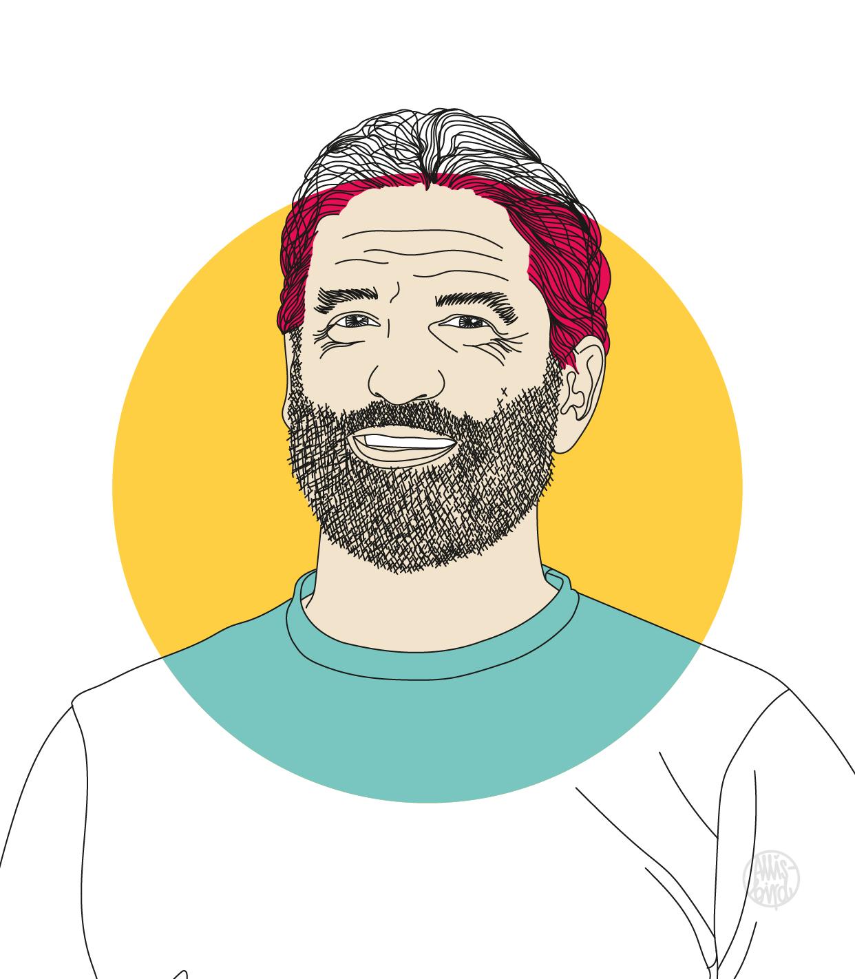 Portrait Illustration Grafikdesign Matti